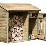 6' x 2' Store-Plus Large Log Store Tool Shed Right Side