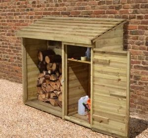 6' x 2' Store-Plus Large Log Store Tool Shed Side