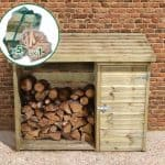 6' x 2' Store-Plus Large Log Store Tool Shed including Firewood Pack