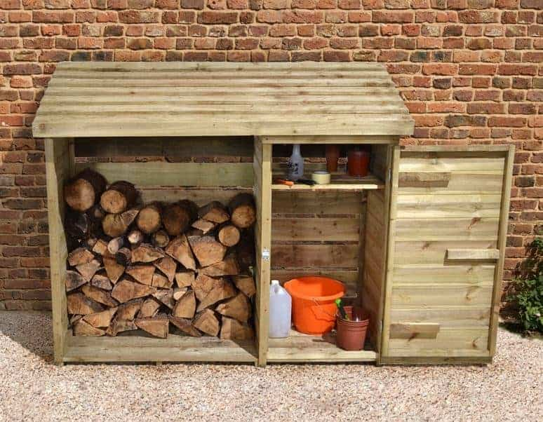 6' x 2' Store-Plus Large Log Store Tool Shed