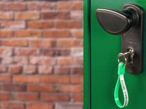 6' x 3' Asgard Premium Metal Bike Store Door Lock Feature