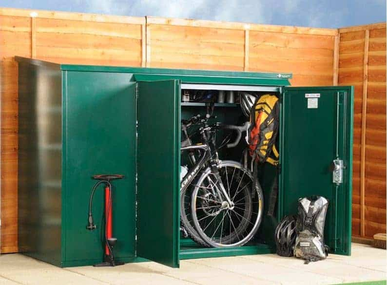 6 39 x 3 39 asgard premium metal bike store what shed. Black Bedroom Furniture Sets. Home Design Ideas