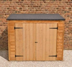 6' x 3' Store-Plus Overlap Maxi Wall Storage Shed Front View