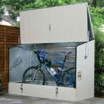 6' x 3' Trimetals Metal Bicycle Store Gray Color