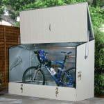 6' x 3' Trimetals Metal Bicycle Store Gray Color