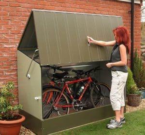 6' x 3' Trimetals Metal Bicycle Store Open