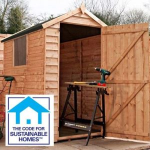 6 x 4 Overlap Apex Shed Sustainable Code Compliant