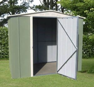 6' x 4' Shed Baron Grandale Apex Hinged Door Metal Shed Open Door