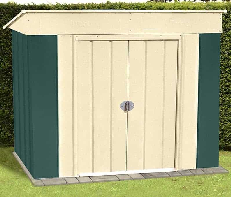 6' x 4' Shed Baron Grandale Low Pent Metal Shed