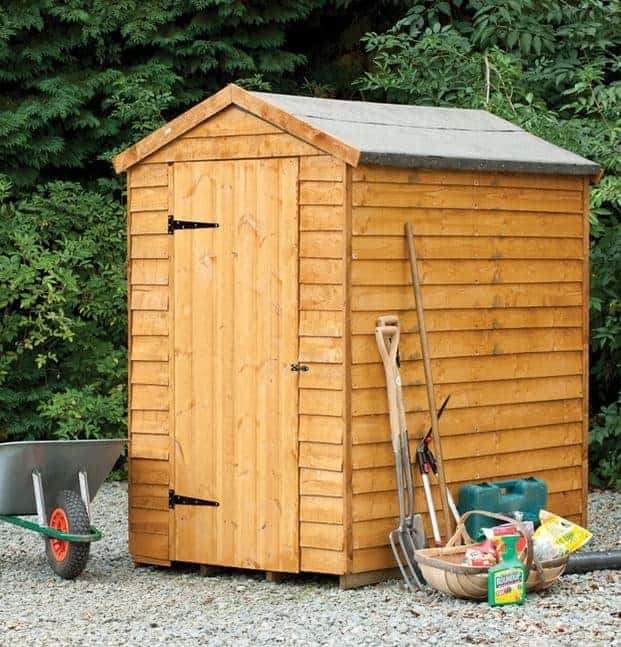 6' x 4' Shed-Plus Overlap Secure Shed