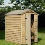 6' x 4' Shed-Plus Pressure Treated Overlap Security Shed