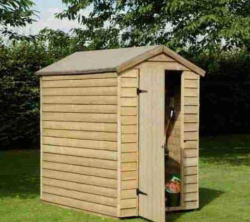 6 X 4 Shed Plus Pressure Treated Overlap Security Shed