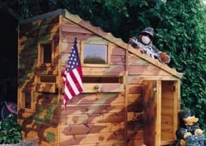 6' x 4' Shire Command Post Playhouse Camo Colour