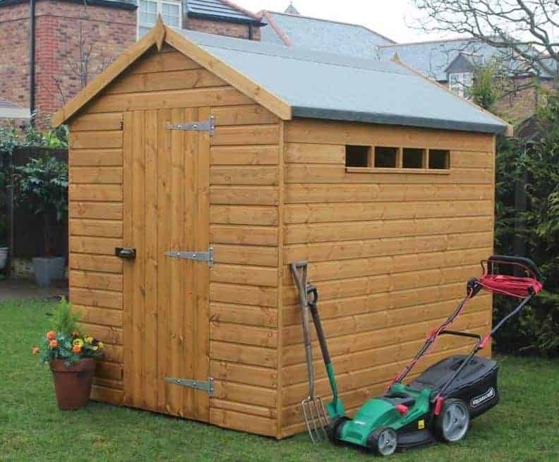 6' x 4' Traditional Apex Security Shed