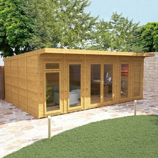 6 x 4 waltons insulated garden room what shed for Garden rooms uk