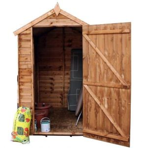 6 x 4 Waltons Overlap Apex Wooden Shed Overall Appearance