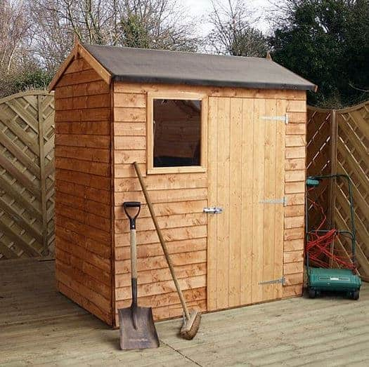 6 X 4 Walton S Reverse Overlap Apex Wooden Shed What Shed