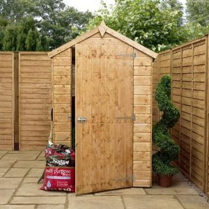 6 x 4 Waltons Tongue And Groove Apex Garden Shed Front View