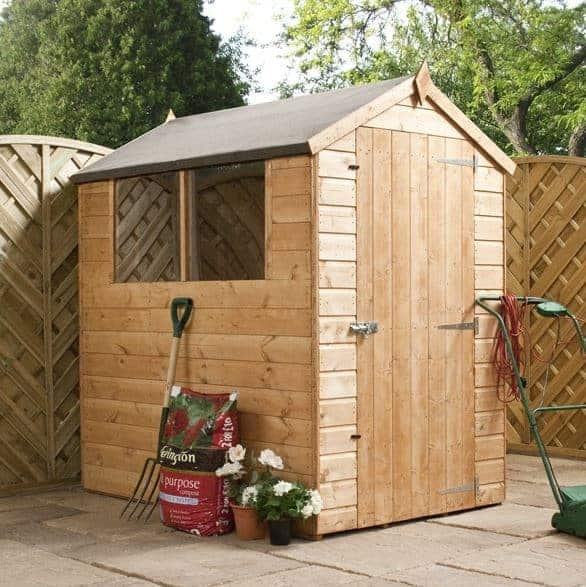 6 x 4 waltons tongue and groove apex garden shed for Garden shed homebase