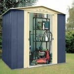 6' x 5' Shed Baron Grandale Mountain Blue Metal Shed