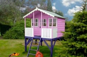 6' x 6' Shire Stork Platform Playhouse MultiColor