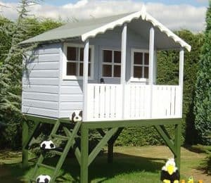 6' x 6' Shire Stork Platform Playhouse White