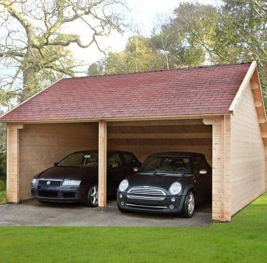 Wood Car Garage : Waltons field barn wooden garage what shed