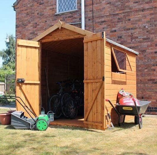 6 x 6 Waltons Premium Shiplap Double Door Apex Shed