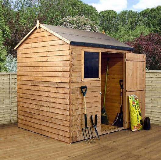 6 x 6 Walton's Reverse Overlap Apex Wooden Shed