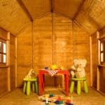 6' x 6' Windsor Dutch Barn Playhouse Inside View