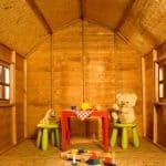 6' x 6' Windsor Dutch Barn Playhouse Inside View