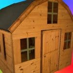 6' x 6' Windsor Dutch Barn Playhouse Side View