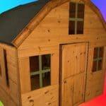 6' x 6' Windsor Dutch Barn Playhouse Side View
