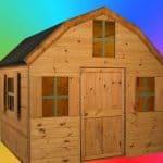 6' x 6' Windsor Dutch Barn Playhouse Unpainted