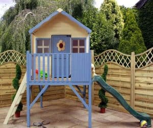 6' x 6' Windsor Honeysuckle Tower Playhouse with Slide