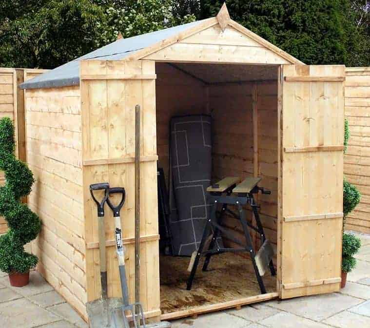 6' x 6' Windsor Shiplap Apex Windowless Shed