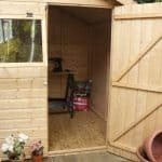 6 x 8 Waltons Tongue and Groove Reverse Apex Garden Shed Internal View