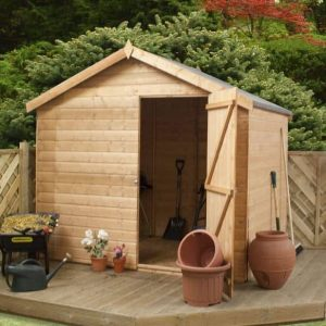 6 x 8 Waltons Windowless Tongue and Groove Reverse Apex Garden Shed
