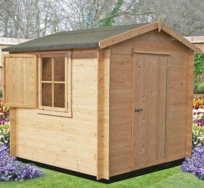 6'10 x 6'10 GardenStyle Camelot Log Cabin