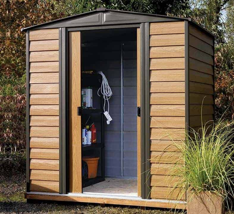 6 4 X 5 Arrow Woodvale Metal Shed What Shed