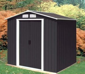 6'7 x 4' Store More Anthracite Metal Shed
