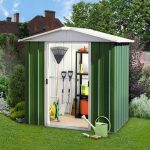 6'8 x 4'6 Yardmaster Green Metal Shed 65GEYZ+ With Floor Support Kit