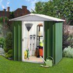 6'8 x 6'6 Yardmaster Green Metal Shed 66GEYZ+ With Floor Support Kit