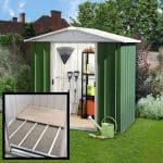 6'8 x7'2 Yardmaster Green Metal Shed 67GEYZ+ With Floor Support Kit