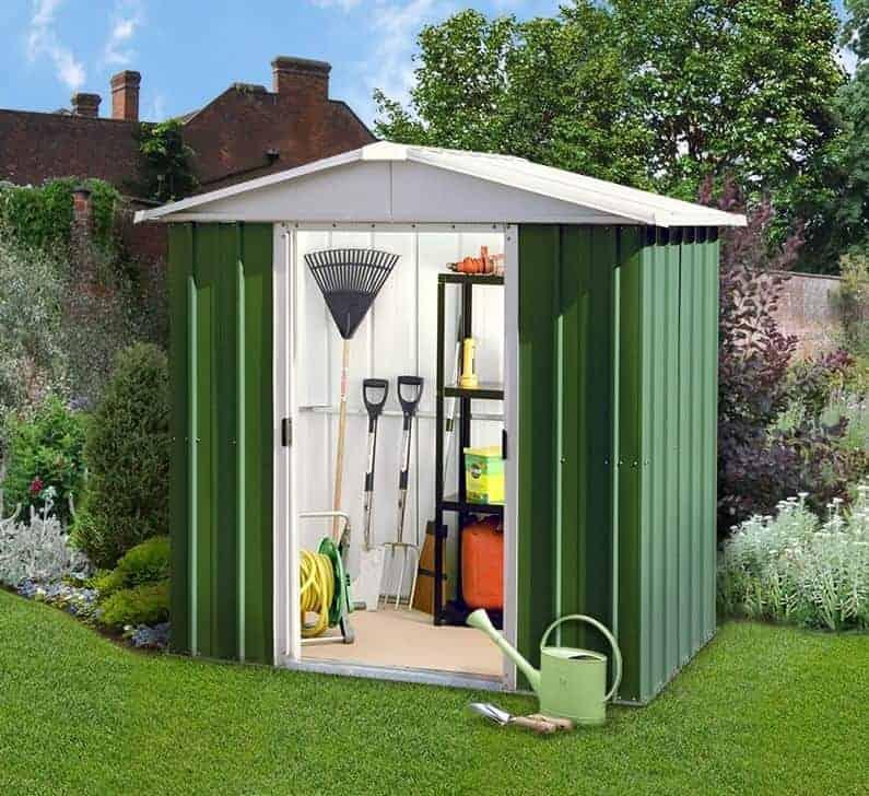 6'8 x7'2 Yardmaster Green Metal Shed 67GEYZ+ With Floor Support Kit