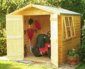 6'9 x 6'6 Shire Alderney Double Door Shed