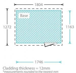 6x4 Waltons Tongue and Groove Pent Wooden Shed Cladding Thickness
