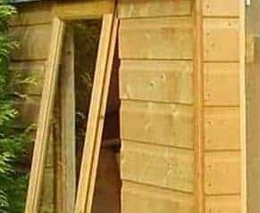 6x6 Shire Double Door Garden Shed - Arran - Window