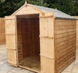 6x6 Windsor Shiplap Apex Windowless Shed Empty Inside