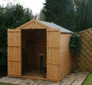 6x6 Windsor Shiplap Apex Windowless Shed Front View